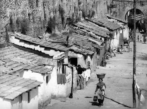 Anni '50, baraccopoli del Mandrione.