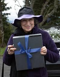 Margaret Atwood alla presentazione del suo manoscritto per la Biblioteca del Futuro