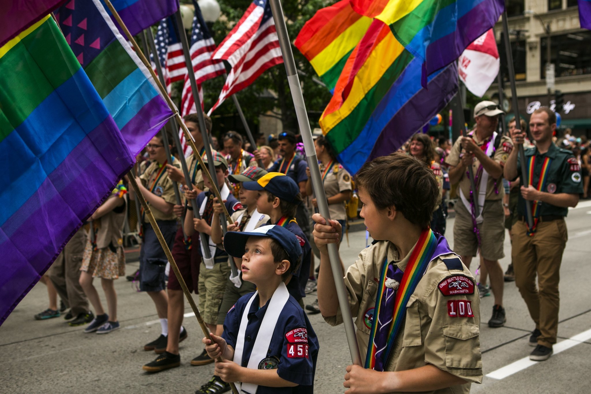 Manifestazione scout americani